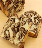 手づくりチョコシートで食パン