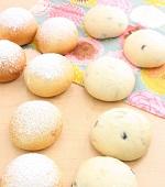 冬の白パン(スノーブレッド&黒豆パン)